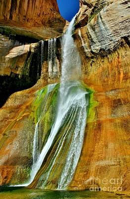 Calf Creek Falls II Art Print by Ellen Heaverlo
