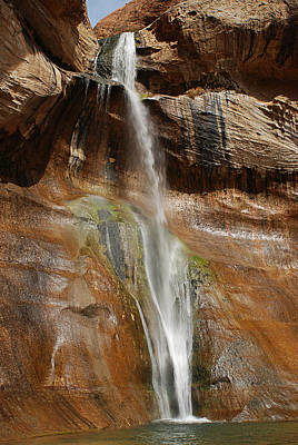 Pour Photograph - Calf Creek Falls by Melany Sarafis