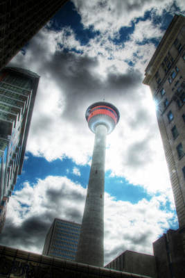 Photograph - Calgary Tower Hdr by Lisa Knechtel