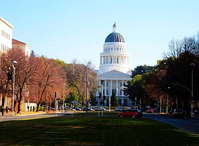 California Capitol Building-3 Art Print by Barry Jones