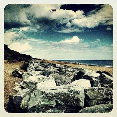Norfolk Wall Art - Photograph - California Cliffs #stones #summer by Invisible Man