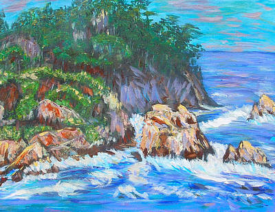 Painting - California Coast by Carolyn Donnell