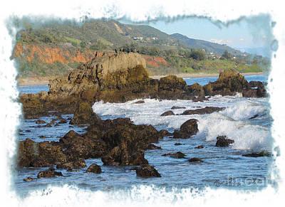 Digital Painting - California Coast by Rod Seeley