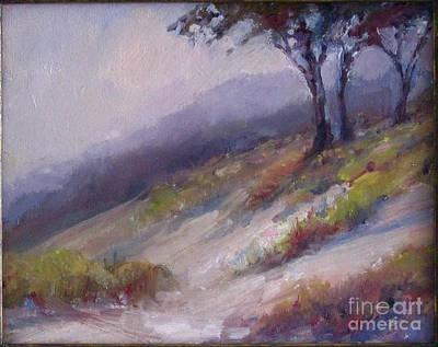 Cypress Trees Painting - California Coastal Sands by Deirdre Shibano