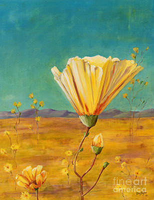 Art Print featuring the painting California Desert Closeup by Terry Taylor