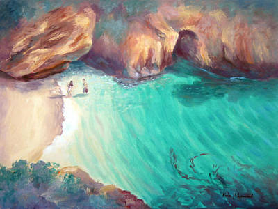 Point Lobos Painting - California Dreaming by Karin  Leonard