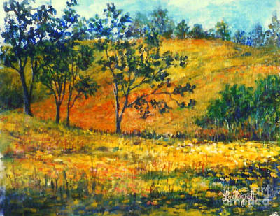 Painting - California  Fields by Lou Ann Bagnall