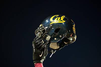Photograph - California Golden Bears Helmet by Replay Photos