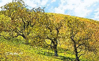 Digital Art - California Hillside by Jim Pavelle