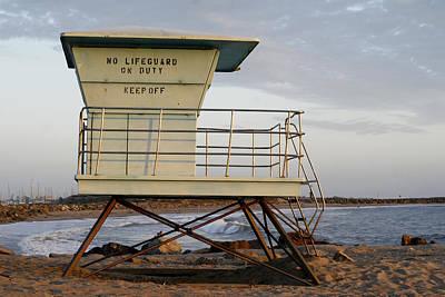 California Lifeguard Tower Art Print by Maureen Bates
