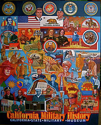 Stockton Painting - California Military History Mural Upgrade by Dean Gleisberg