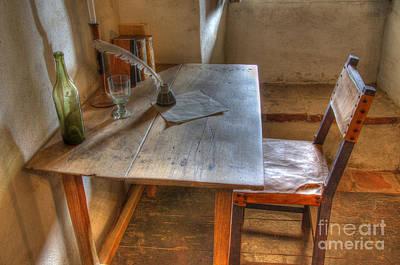 Photograph - California Mission La Purisima Desk by Bob Christopher
