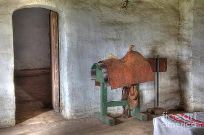 Photograph - California Mission La Purisima Saddle Room by Bob Christopher