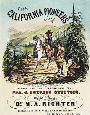 California Pioneers, C1850 Art Print by Granger
