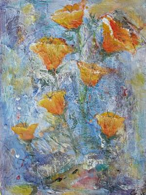 Painting - California Poppies by Chaline Ouellet