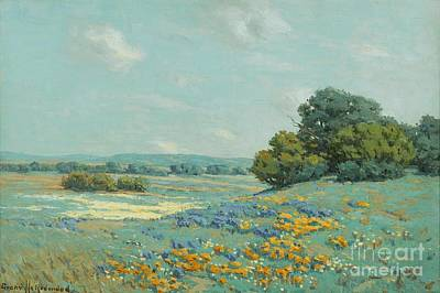 Poppies Field Painting - California Poppy Field by Pg Reproductions