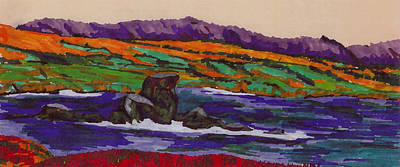 Painting - California Seacoast by Gail Daley
