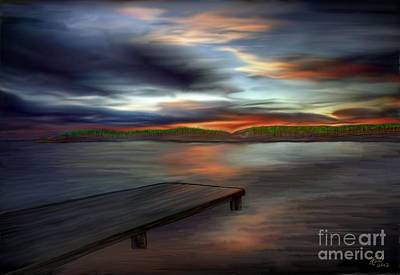 Art Print featuring the painting California Sky by Rand Herron
