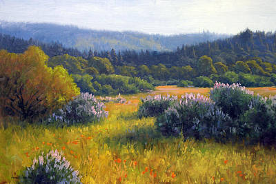 Lupine Painting - California Spring by Armand Cabrera
