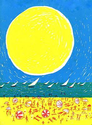 California Sun Art Print by Donovan OMalley