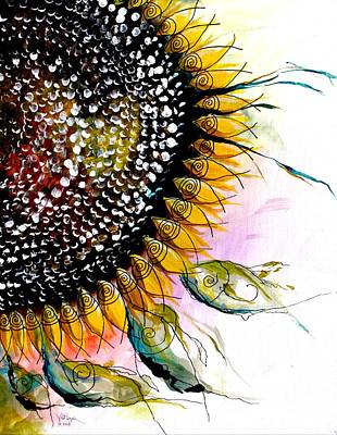 California Sunflower Art Print