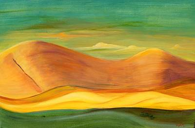 Art Print featuring the painting California Sunset by Terry Taylor