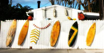 California Surf Shack Art Print