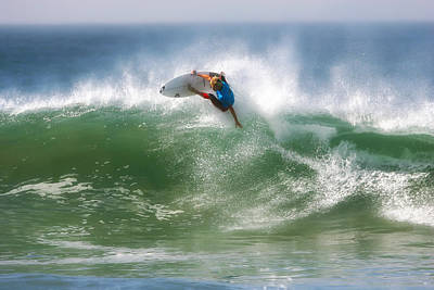 Waves Photograph - California Surfing 1 by Larry Marshall