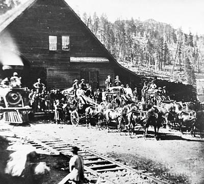 Californian Stagecoaches, 1867 Art Print
