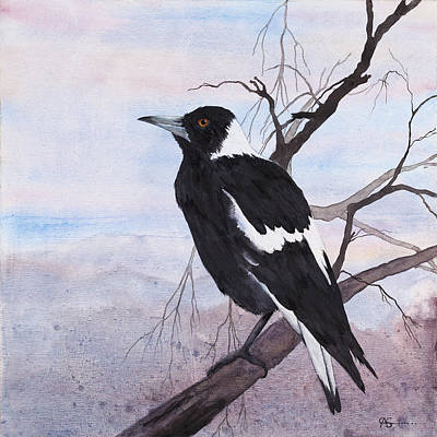 Painting - Call Of The Magpie by Carol McLagan