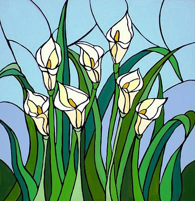 Lilies Painting - Calla Lilies by JW DeBrock