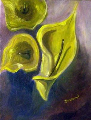 Calla Lilies Art Print by Raymond Doward