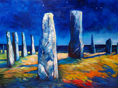 Scotland Painting - Callanish by Stephanie  Maclean