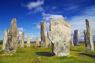 Megalith Photograph - Callanish Stones, Callanish, Isle Of Lewis, Outer Hebrides, Hebrides, Scotland by Frank Krahmer