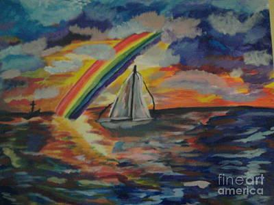 Phillies Art Painting - Calm Journey by Catherine Herbert