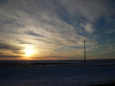 Calm Prairie Sunset Art Print by Tracy Fallstrom