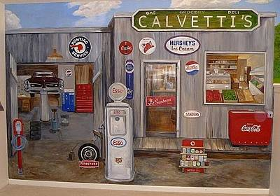 Painting - Calvetti's General Store by Denise Ivey Telep