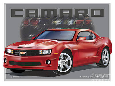 Digital Art - Camaro by Kenneth De Tore
