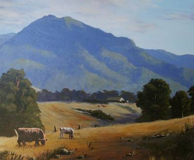 Painting - Cambewarra Mountain by Anne Gardner