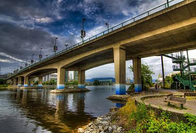 Cambie Bridge Art Print