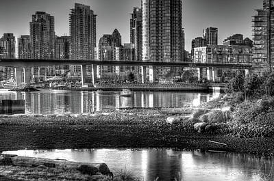 Built Structure Photograph - Cambie Street Bridge by Bal Kang