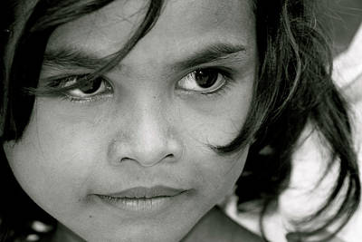 Photograph - Cambodian Eyes by Paula St James