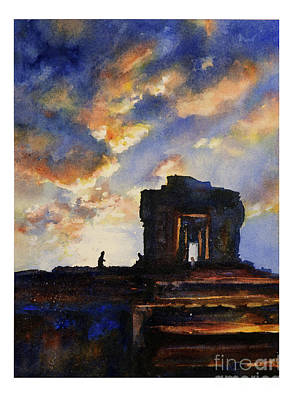Cambodia Painting - Cambodian Sunset by Ryan Fox