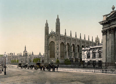Cambridge - England - Kings College Art Print by International  Images