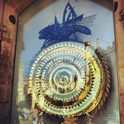 Steampunk Wall Art - Photograph - #cambridge #steampunk #clock by Christelle Vaillant