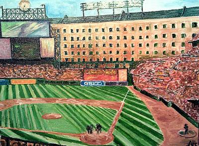 Baseball Stadium.camden Yards Painting - Camden Yards by Andrew Hench