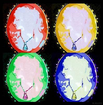 Cameo In Colors Art Print