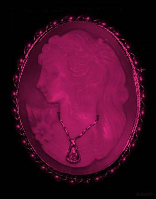 Cameo In Hot Pink Art Print by Rob Hans