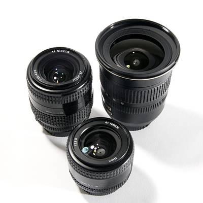 Camera Lenses Art Print
