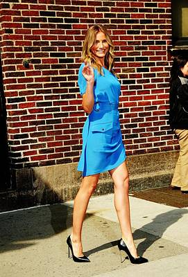 Cameron Diaz Photograph - Cameron Diaz At Talk Show Appearance by Everett